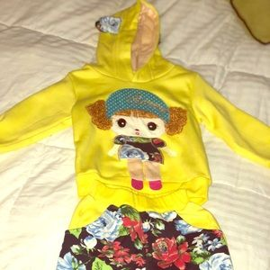 Yellow/multi color toddler suit